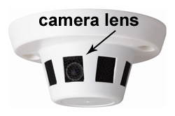 We have enhanced the view of the camera in this smoke detector.